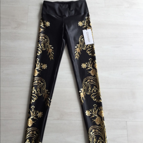 Goldsheep Pants - Royal Floral Legging